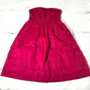 Anthropologie Maeve Hot Pink Strapless Dress